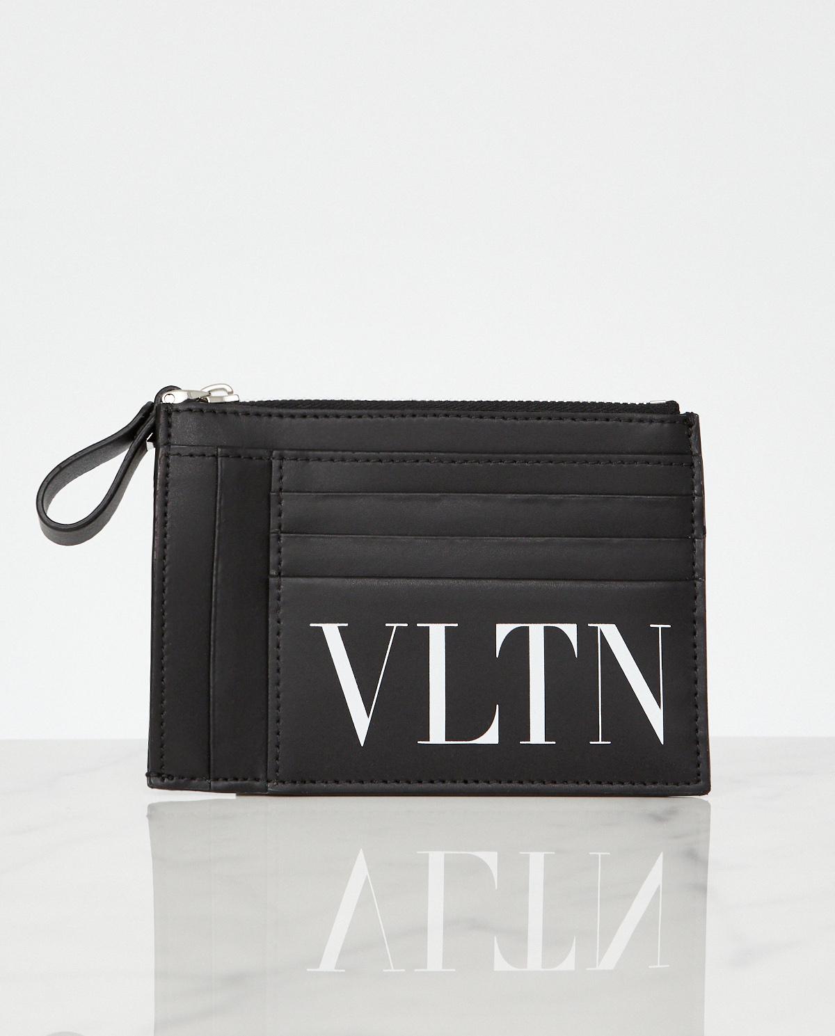 Czarny skórzany portfel VLTN Valentino TY0P0P09LVN 0NO