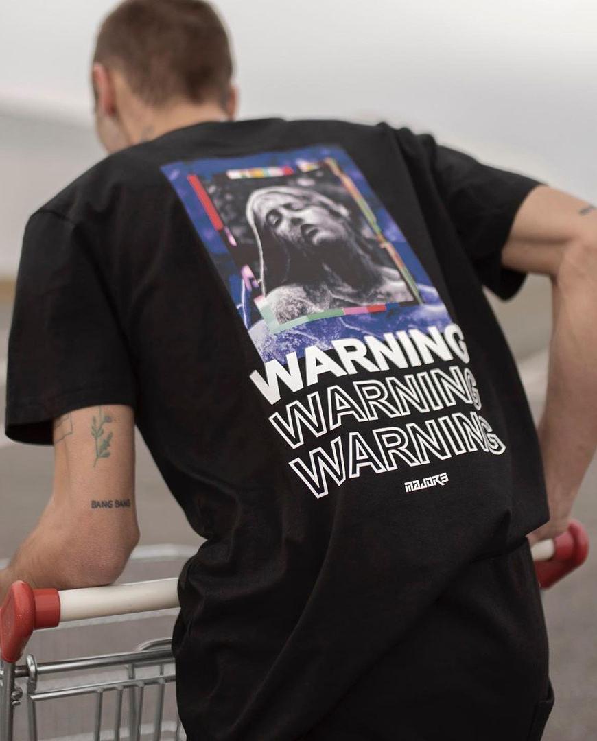 Czarny t-shirt Warning Majors WARNING TS BLACK