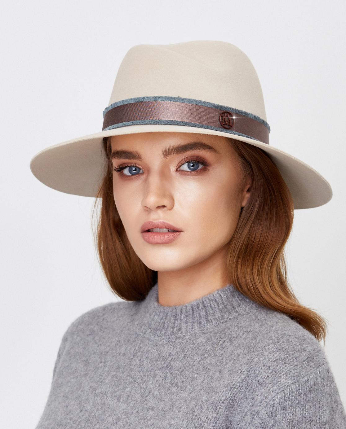 beżowy kapelusz Virginie Maison Michel Paris 1001137003 BEIGE
