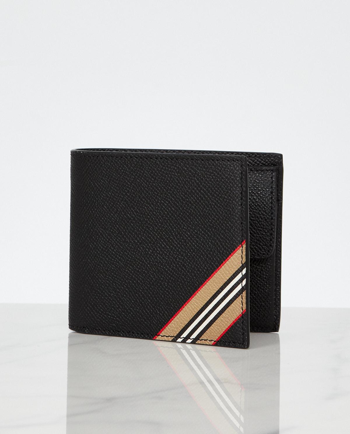 Czarny portfel z paskiem Burberry M8033846 A1189
