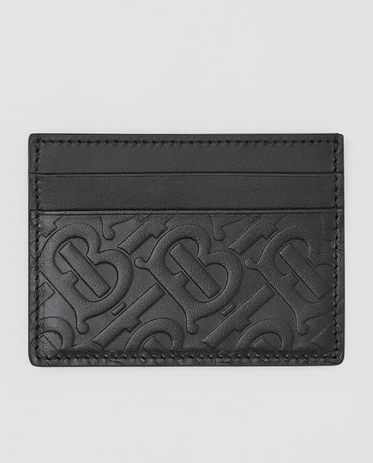 Czarne etui z monogramem Burberry M8017648 A1189