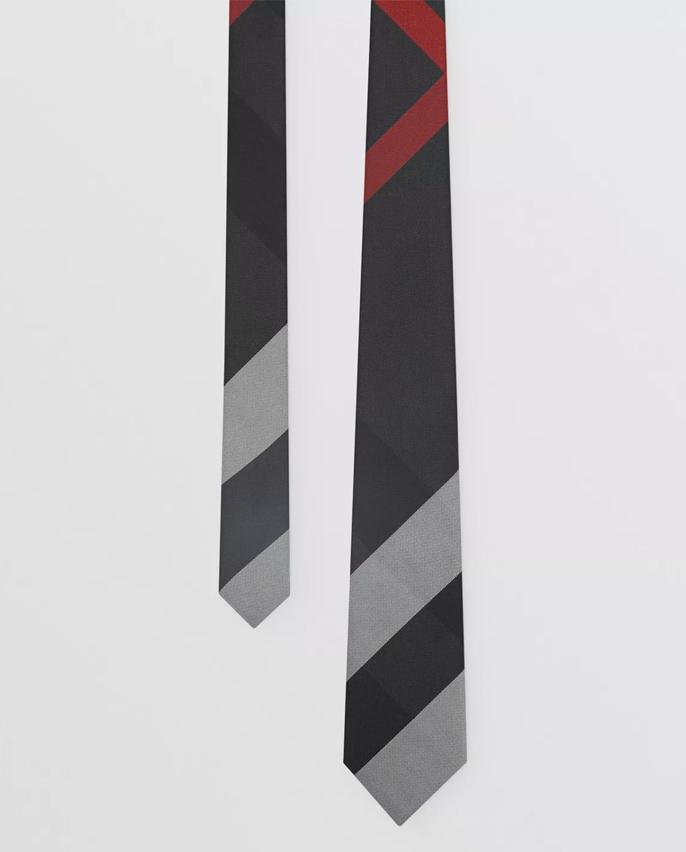 Krawat z jedwabiu Burberry M8017275 A1208