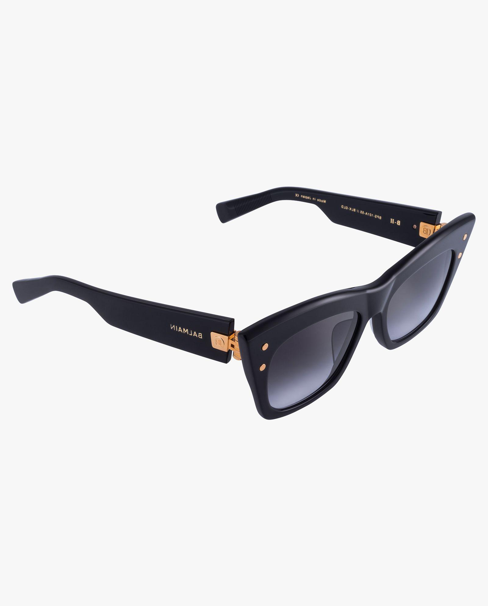 Czarne okulary przeciwsłoneczne Balmain BPS-101A-55