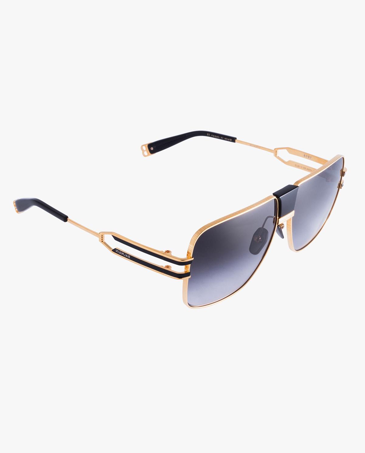 Złote okulary przeciwsłoneczne Balmain BPS-103A-60