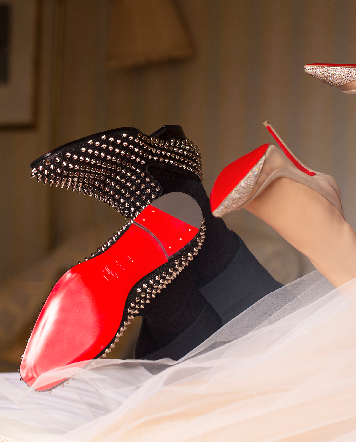 Loafery z kolcami Dandelion Spikes Christian Louboutin