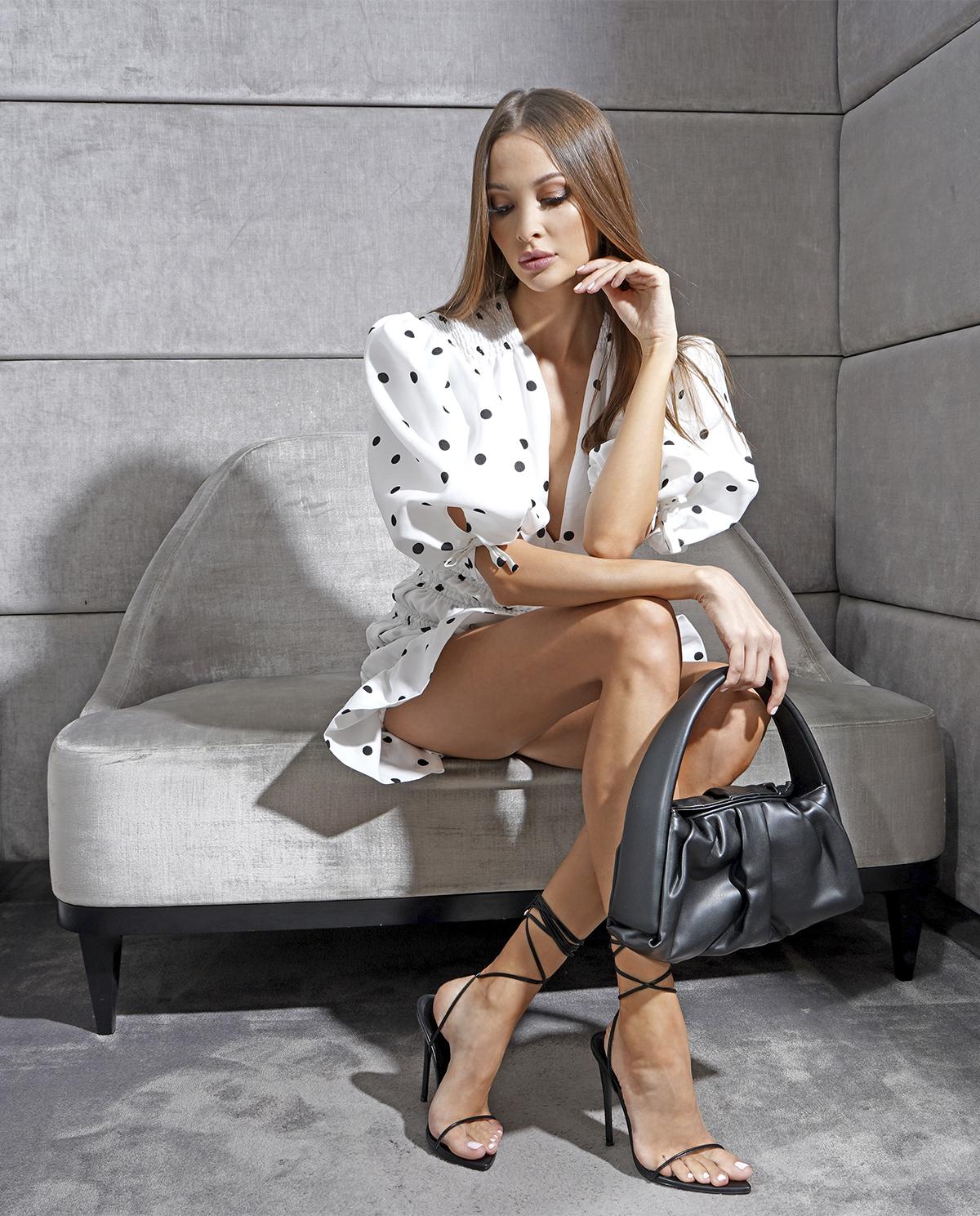 Biała sukienka Eye Candy Marianna Senchina